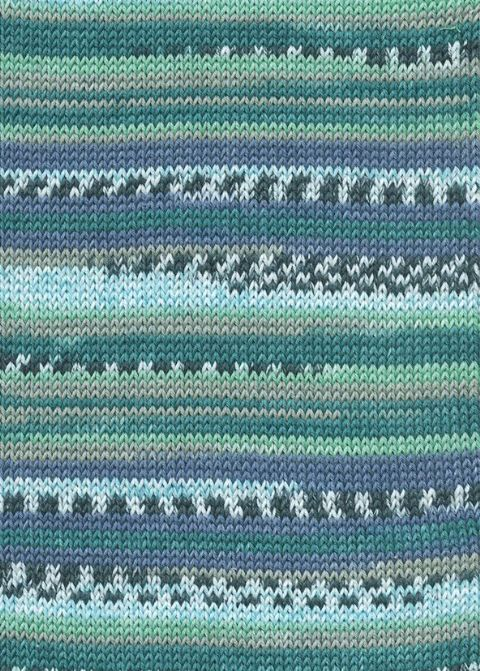 Lang Yarns BABY COTTON COLOR 74 aqua fairisle print
